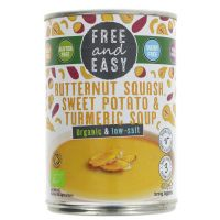 Free & Easy Organic Butternut Squash, Sweet Potato & Turmeric Soup 400g